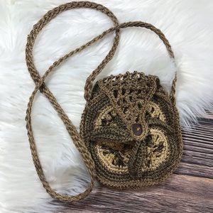 Boho Handmade Festival Crochet Crossbody Bag